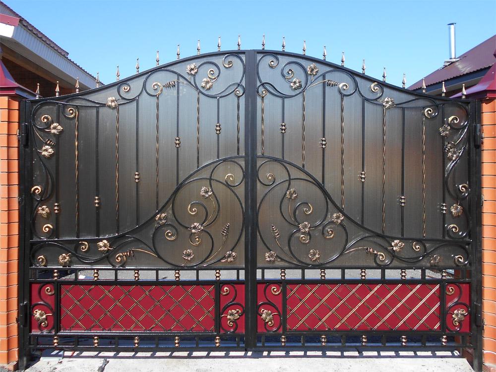 Кованые ворота на заказ в Волгограде!