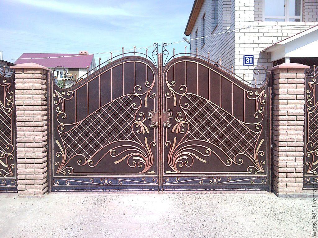 Кованые ворота в Волгограде. Пример работы №1